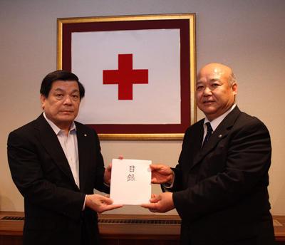 東日本大震災義援金のお渡し画像
