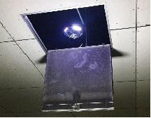 点検口から天井への進入状況